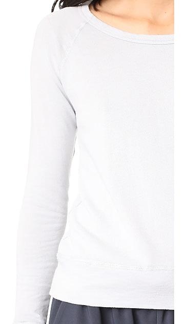 James Perse Classic Long Sleeve Raglan Sweatshirt