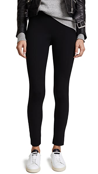 James Perse Cropped Scuba Trousers In Black