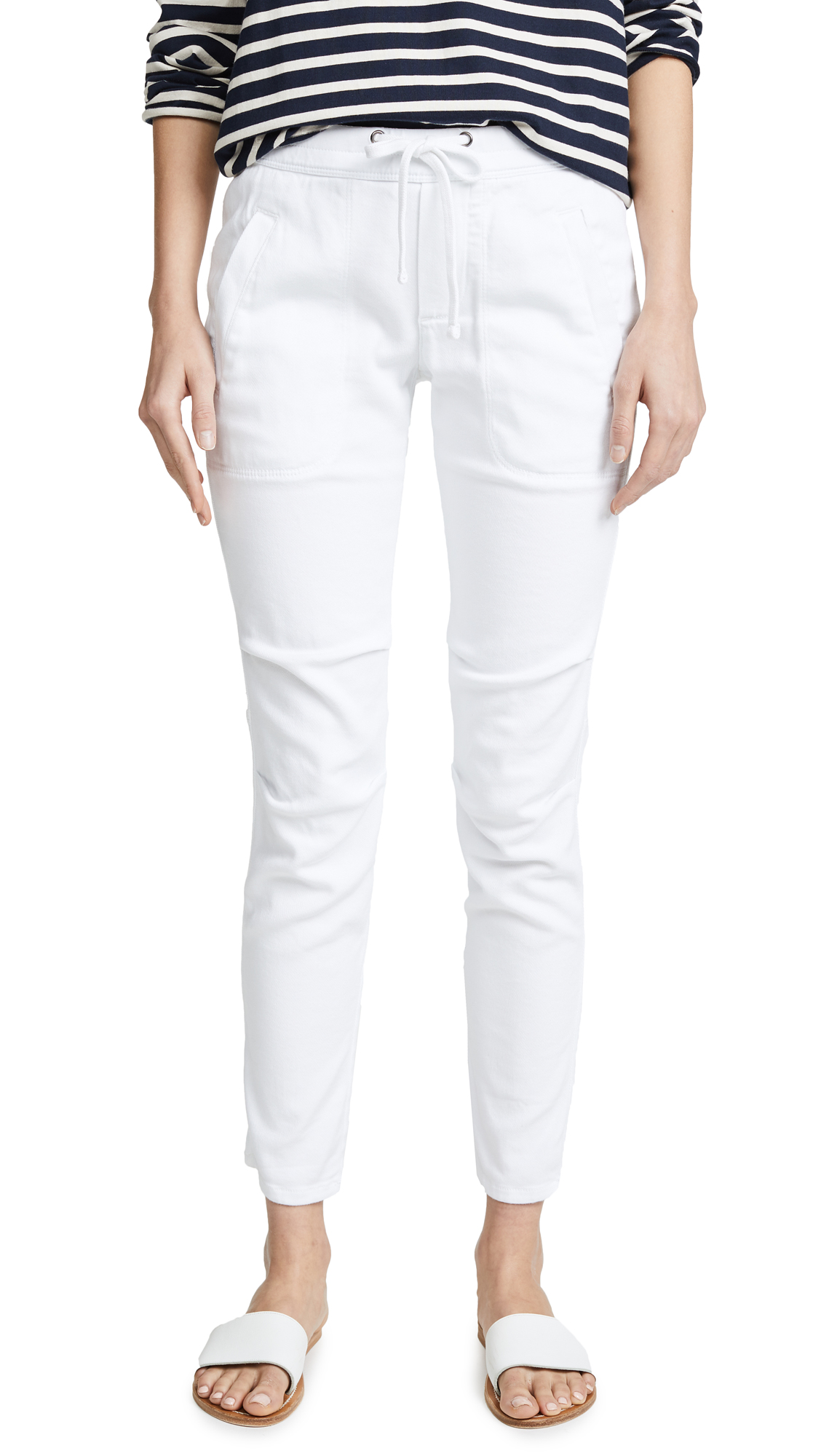 James Perse Soft Drape Utility Pants In White