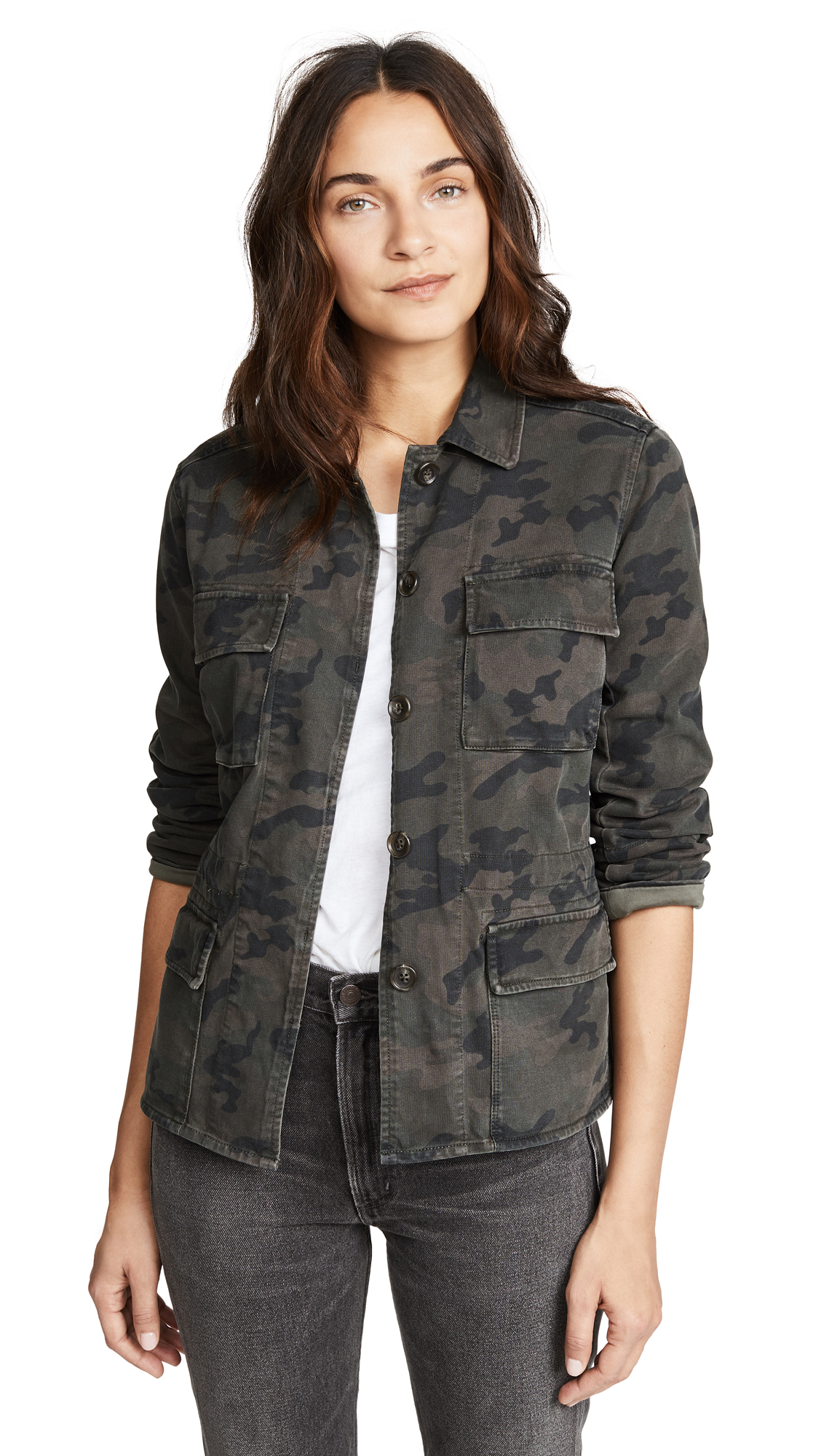 James Perse Military Jacket In Artillery Camo