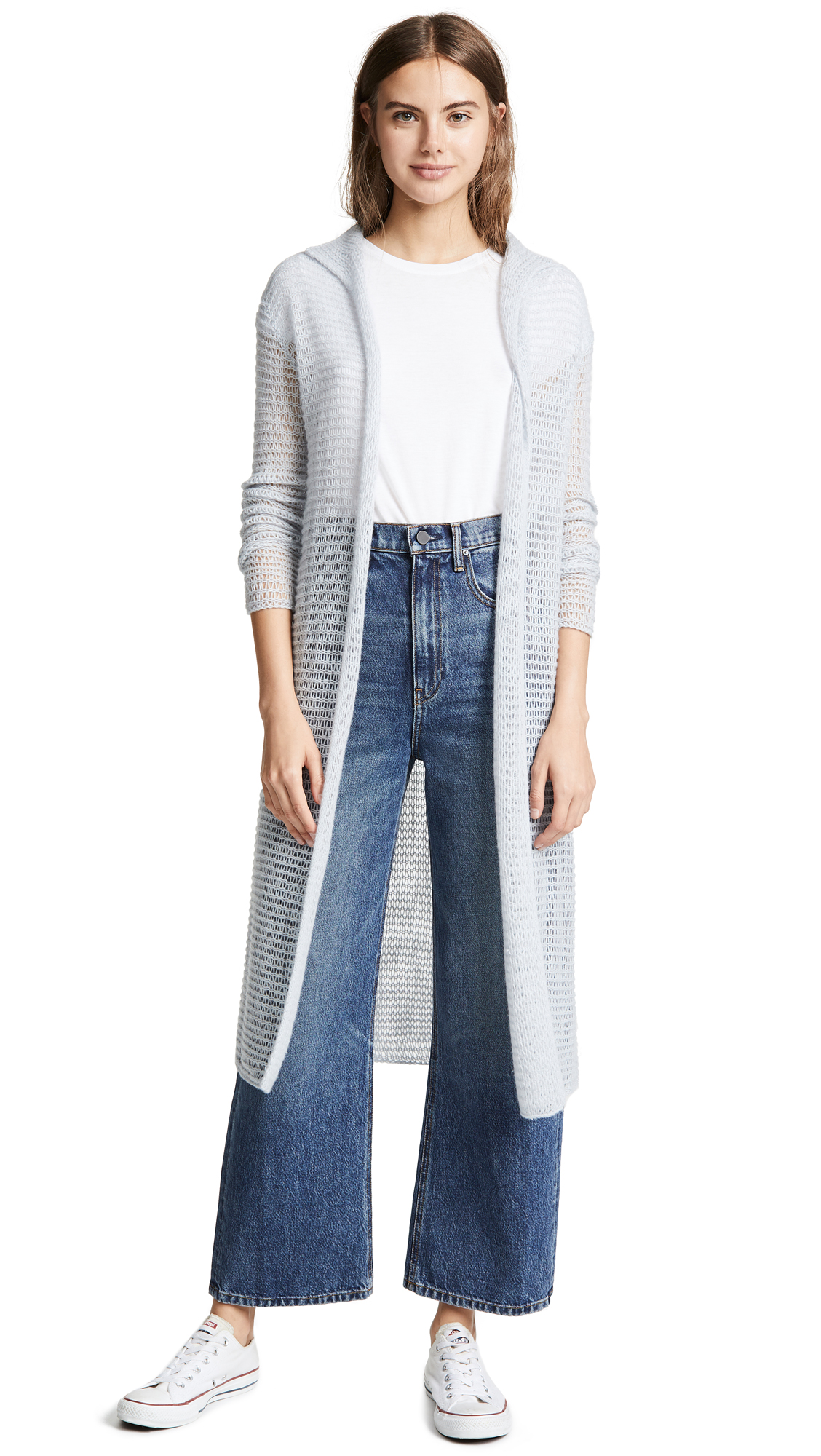 JAMES PERSE OPEN KNIT CASHMERE ROBE