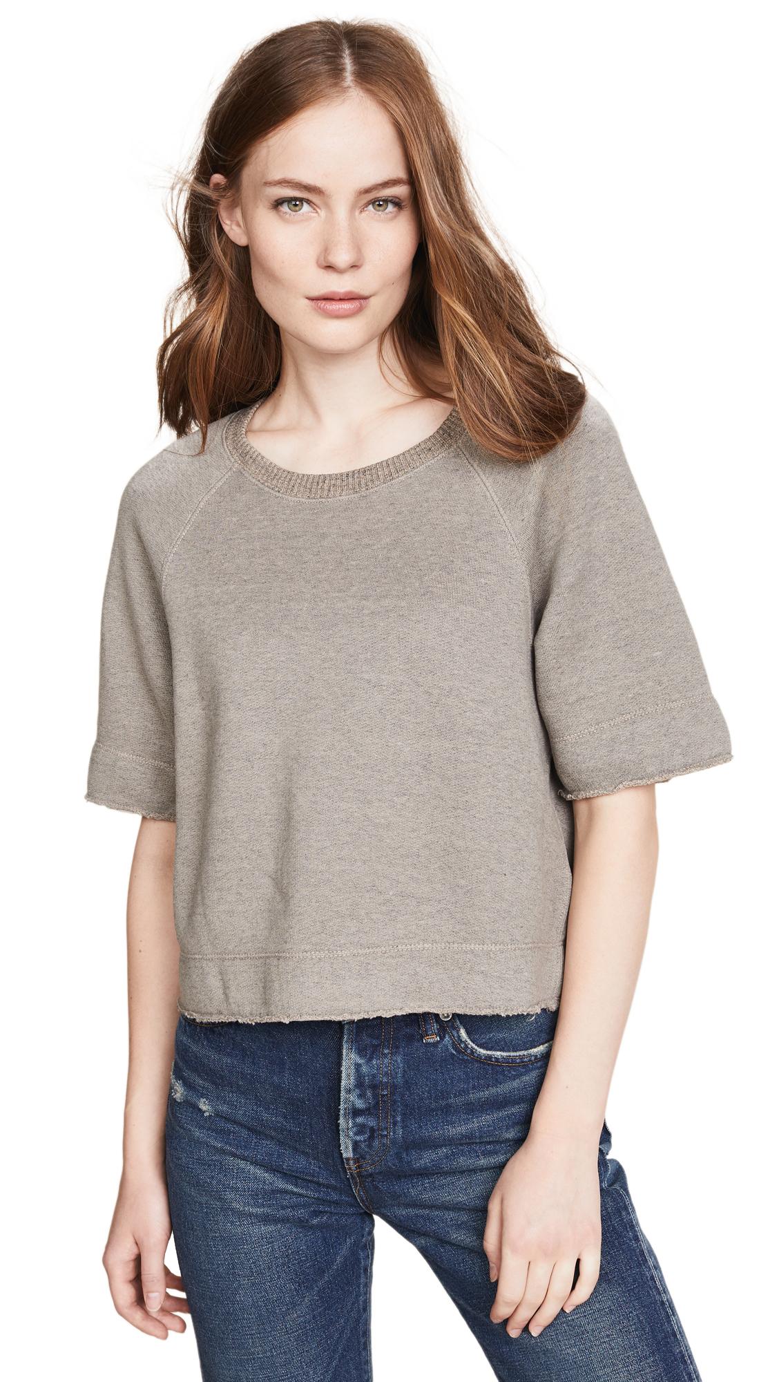 Boxy Sweatshirt in Heather Yak