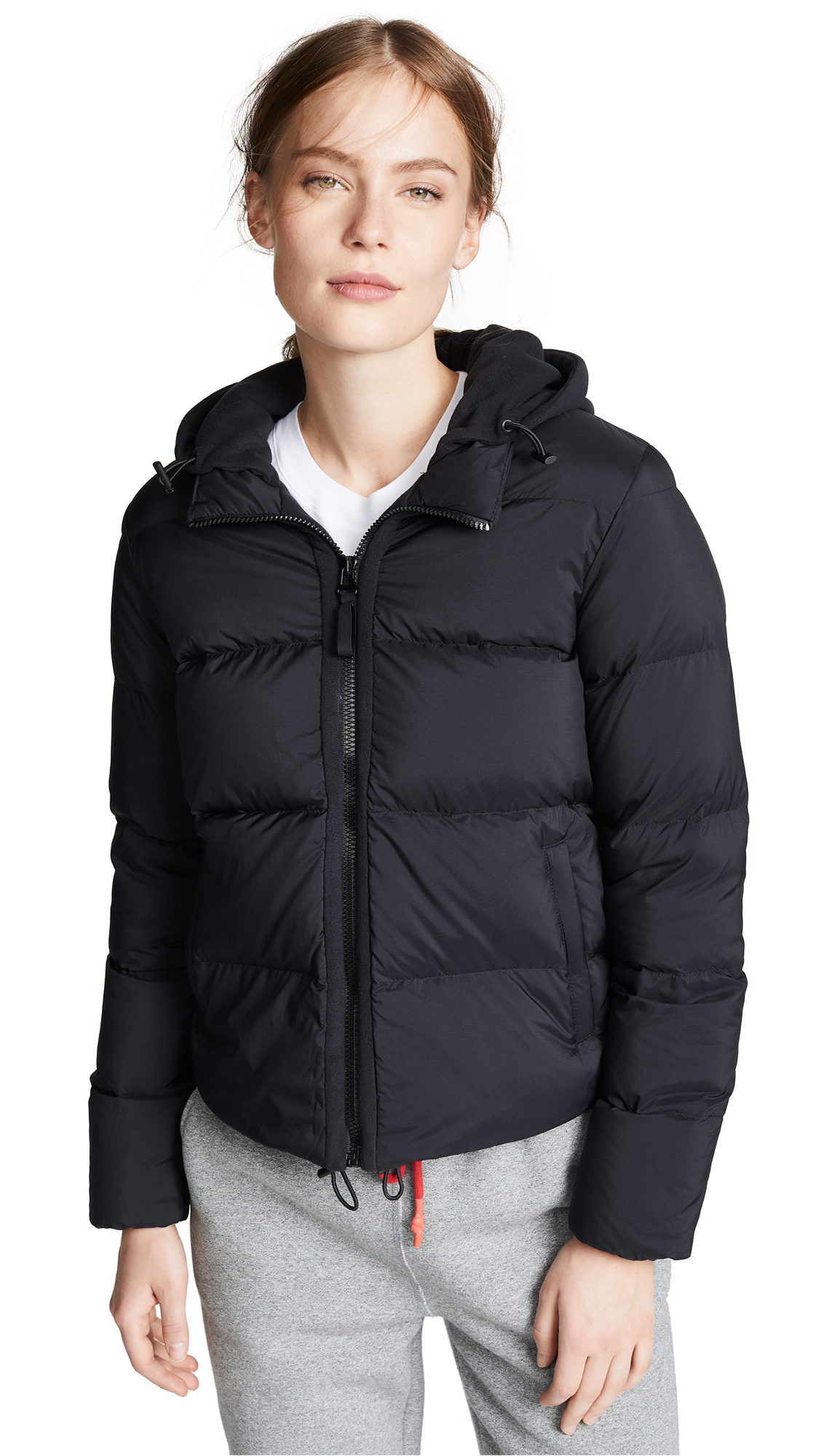 JAMES PERSE Fleece Lined Puffer Jacket in Black
