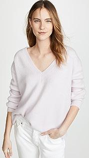 James Perse Oversized V Neck Cashmere Sweater