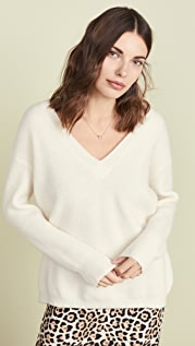 James Perse Oversized Cashmere V Neck Sweater