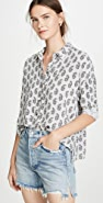 James Perse Paisley Print Boxy Shirt
