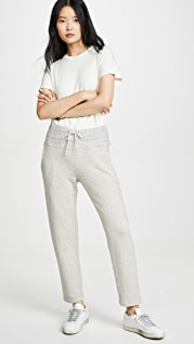James Perse Contrast Waistband Fleece Pants
