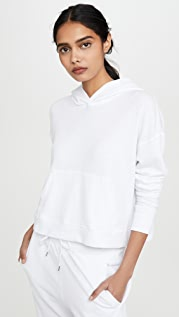 James Perse Relaxed Crop Hoodie