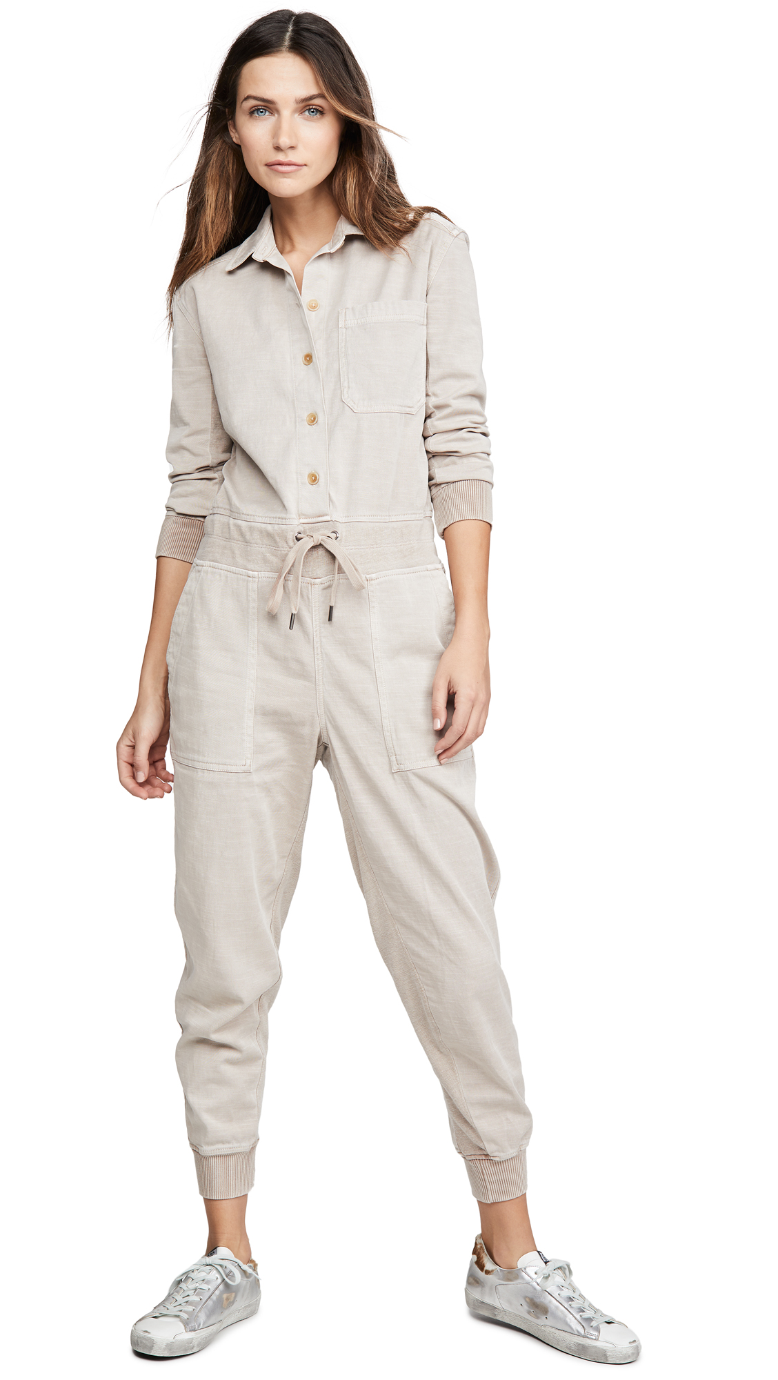 Buy James Perse online - photo of James Perse Mixed Media Jumpsuit