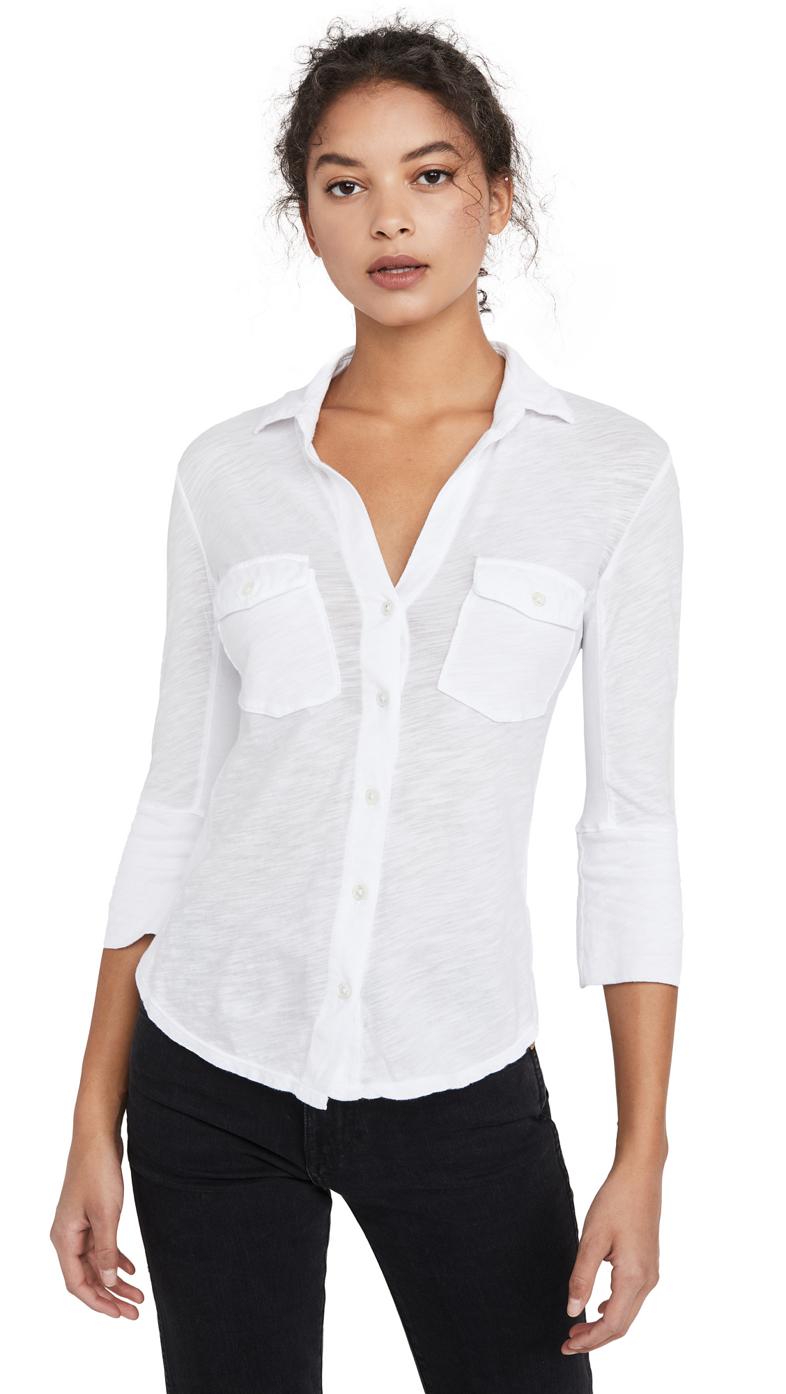 Buy James Perse online - photo of James Perse Contrast Panel Shirt