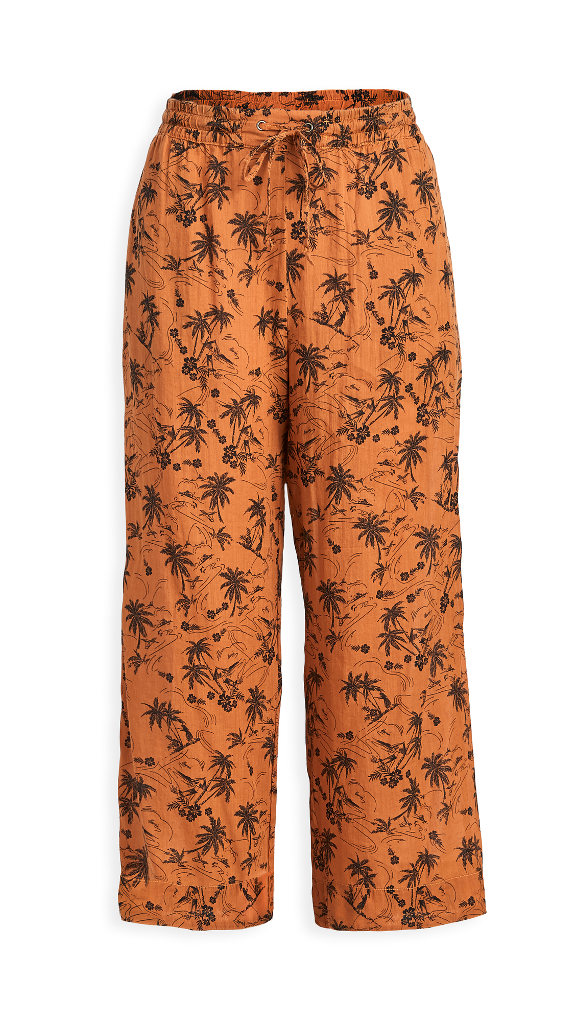 James Perse Island Print Cropped Pj Pants