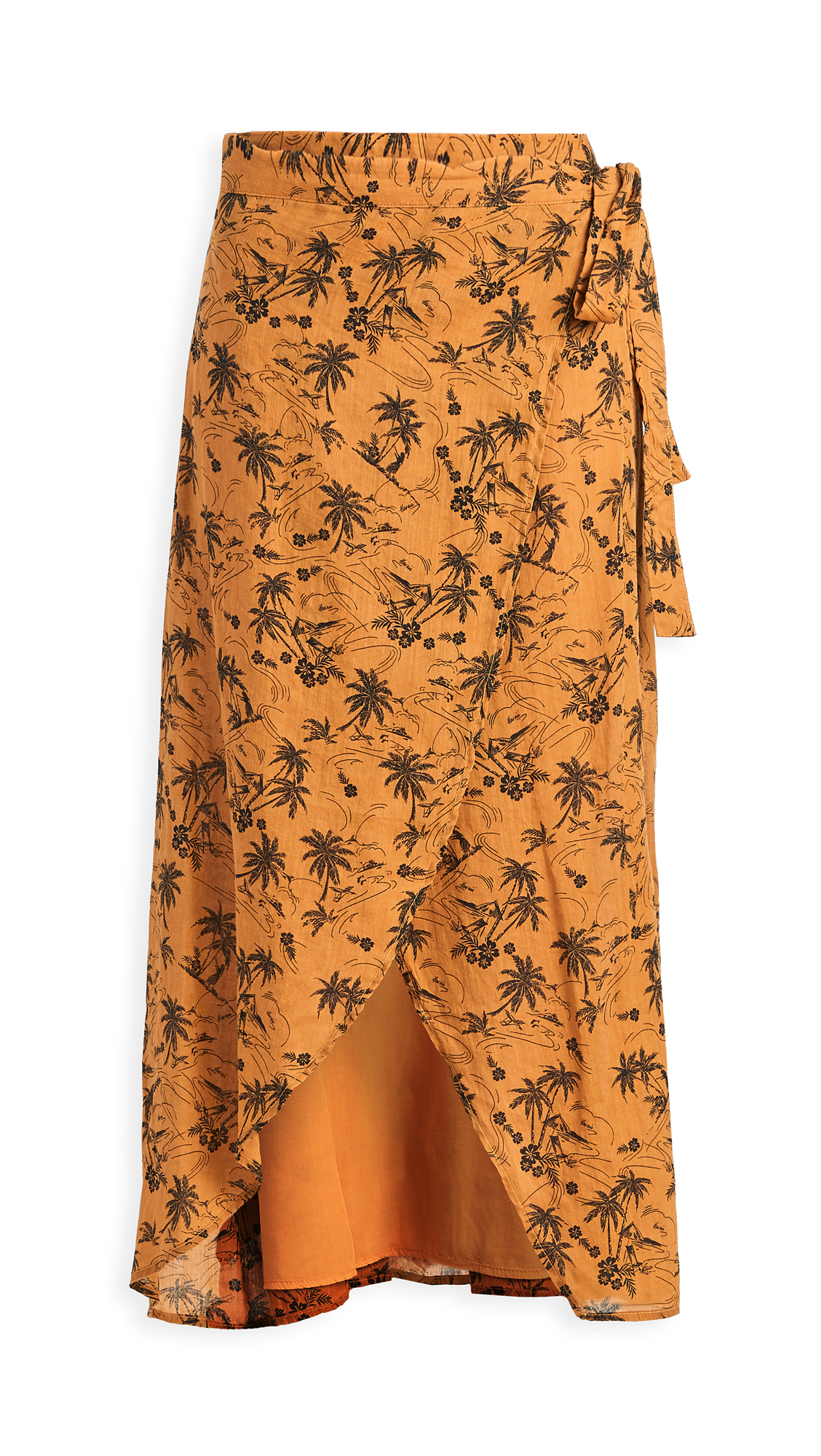 James Perse Island Print Wrap Skirt