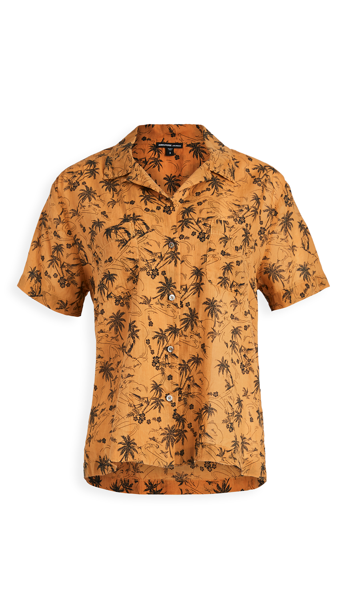 James Perse Island Print Aloha Shirt