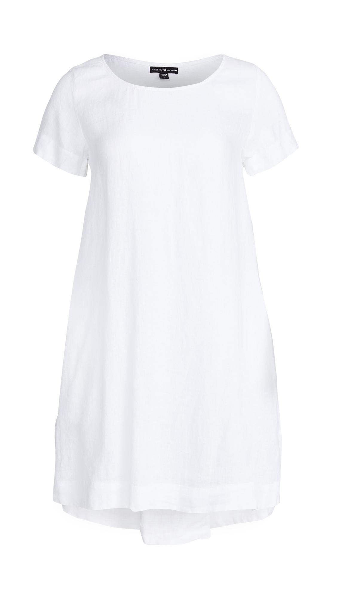 James Perse Back Pleat Shift Dress