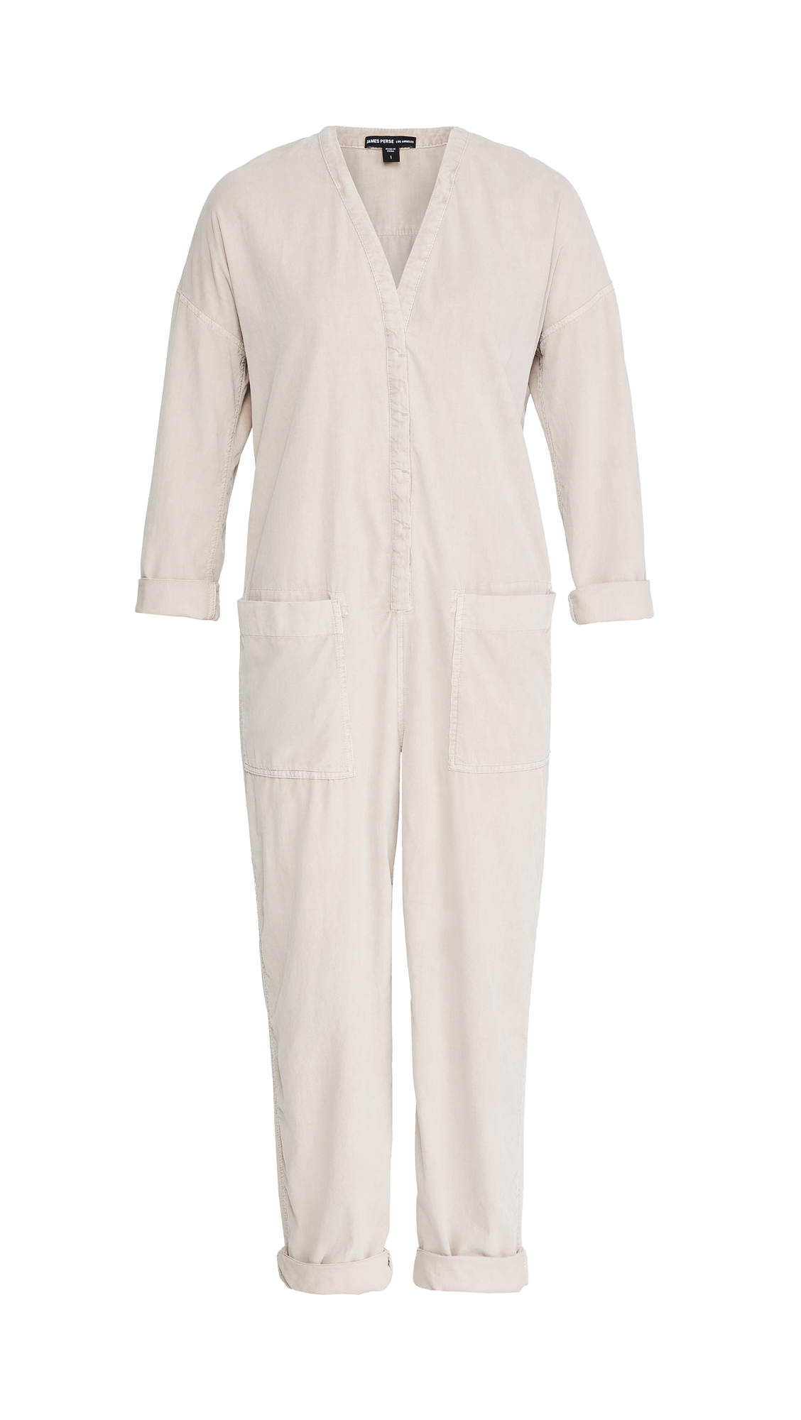 James Perse Ultra Fine Cord Jumpsuit