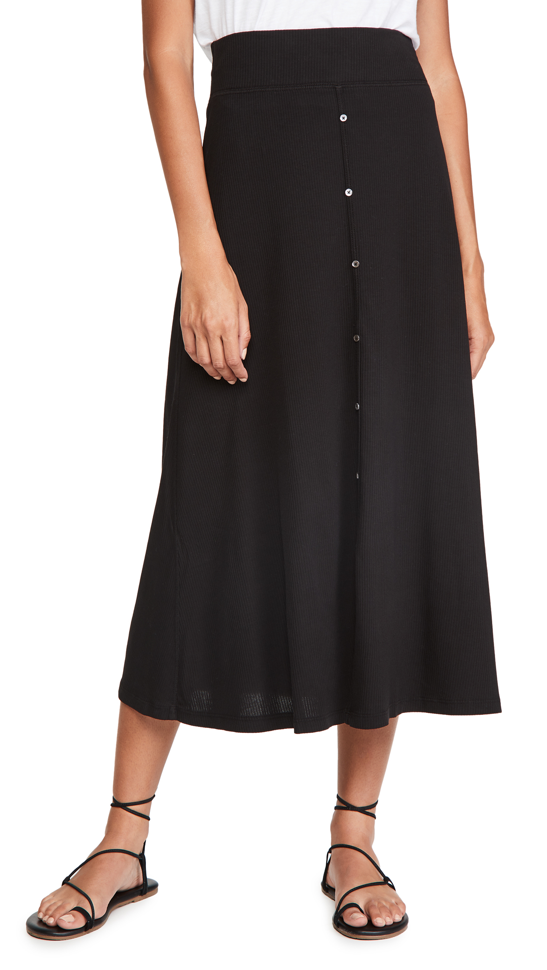 James Perse Button Front Skirt