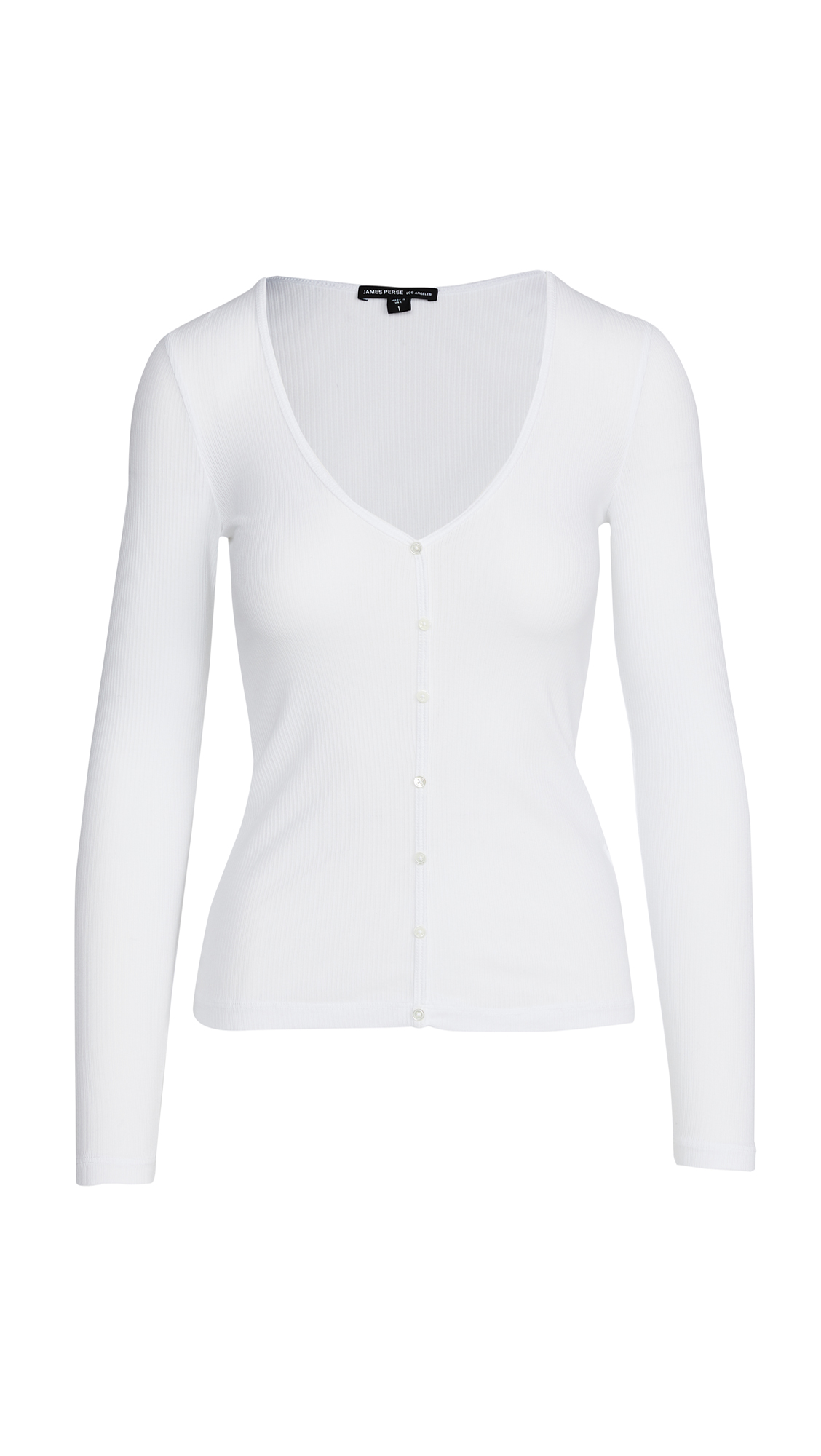 James Perse Ribbed Cardigan Top