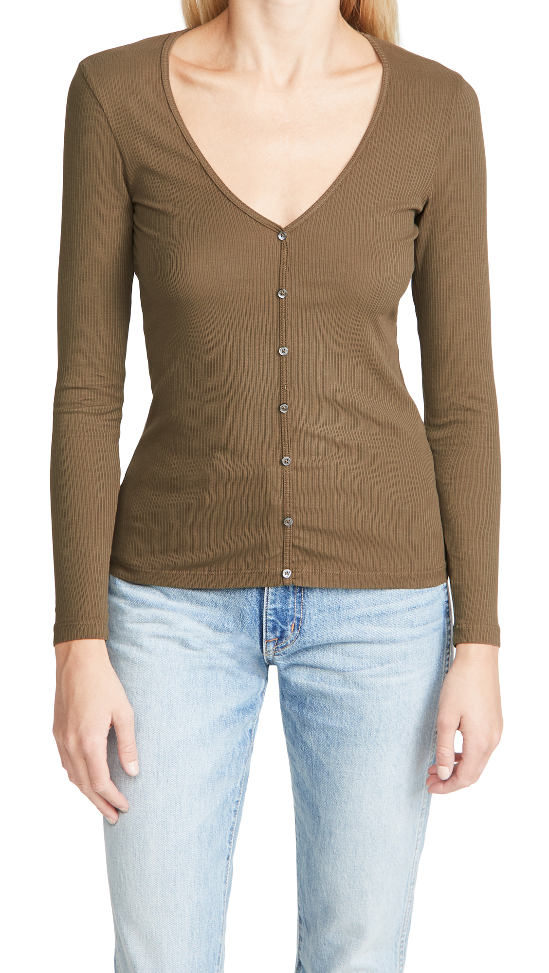 James Perse Button Front Top