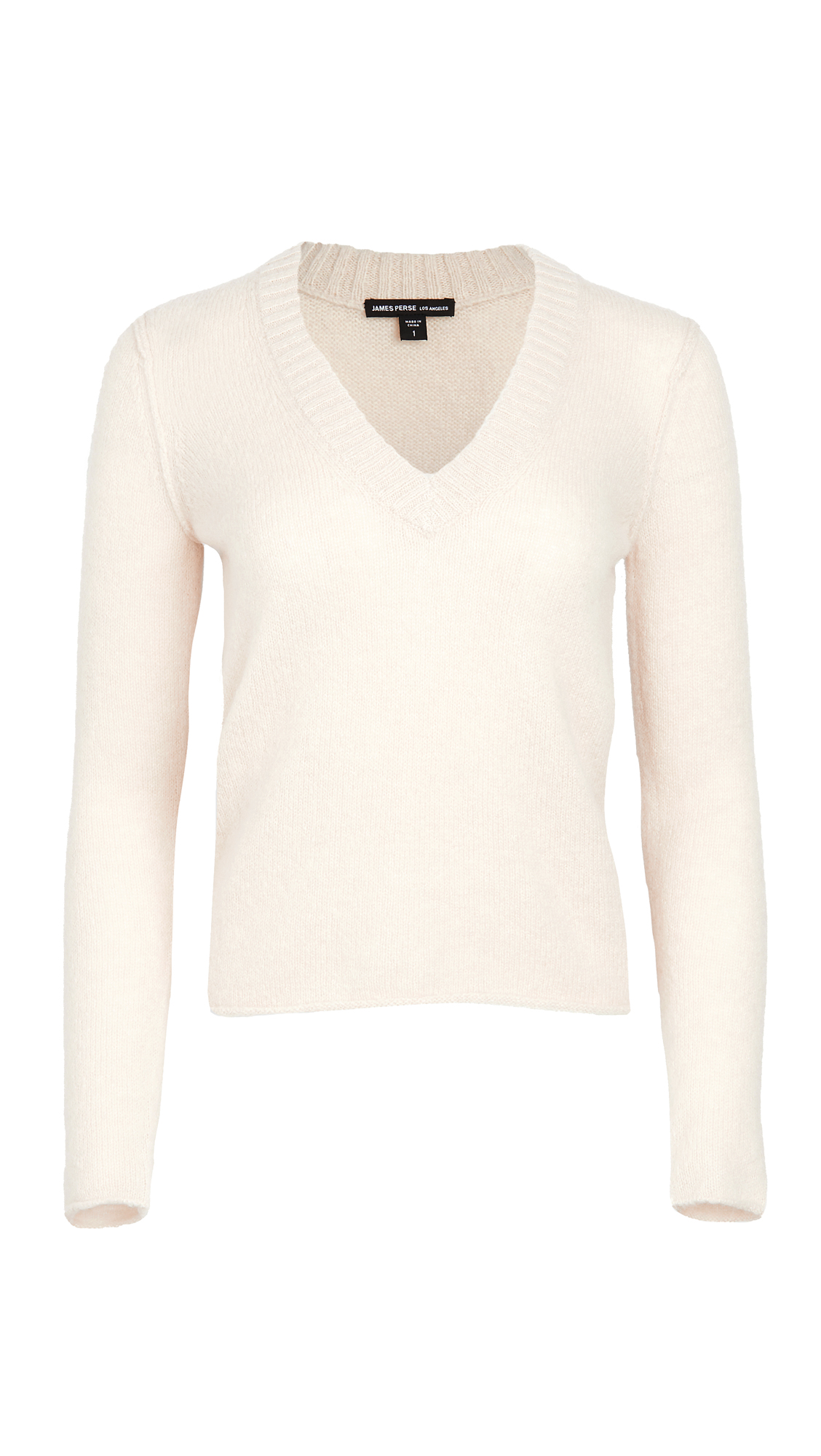 James Perse Cashmere Shrunken Deep V Sweater