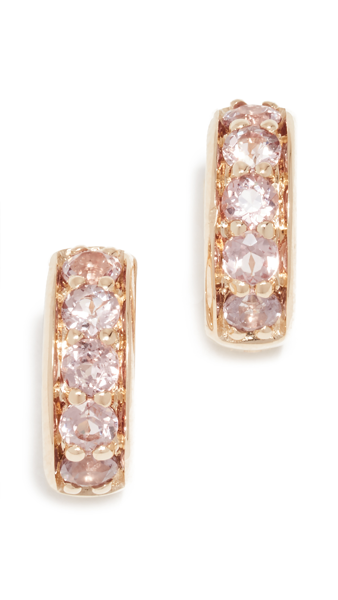 JANE TAYLOR 14K Garnet Huggie Earrings in Pink