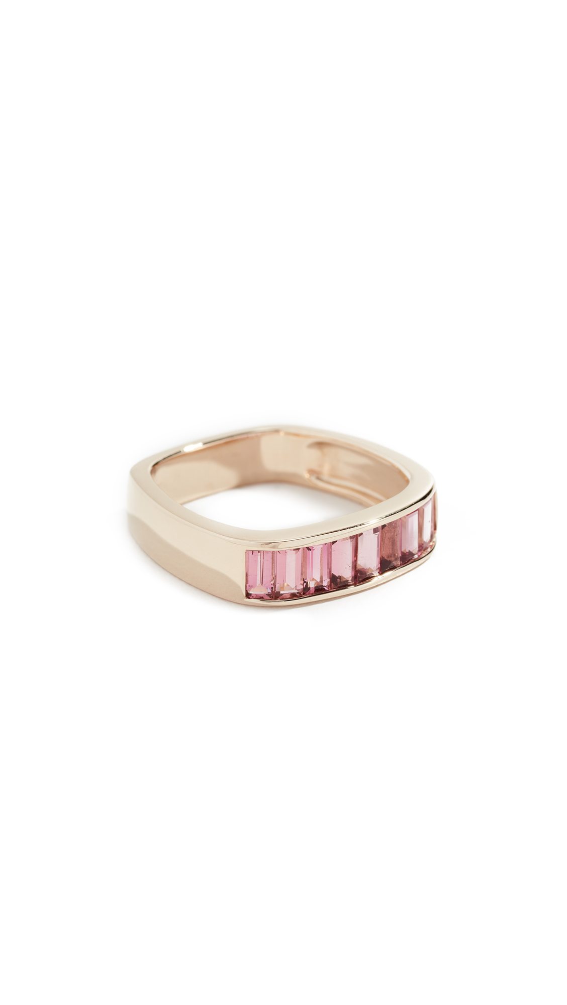 JANE TAYLOR 14K Square Band Ring in Pink