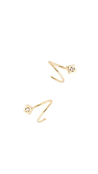 Jules Smith Crystal Wrap Around Earrings In Gold/Clear