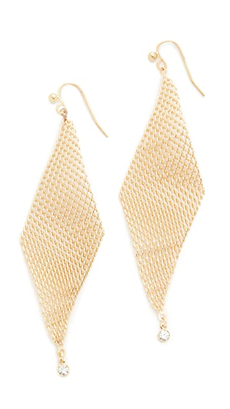 Jules Smith Crystal Mesh Wave Earrings