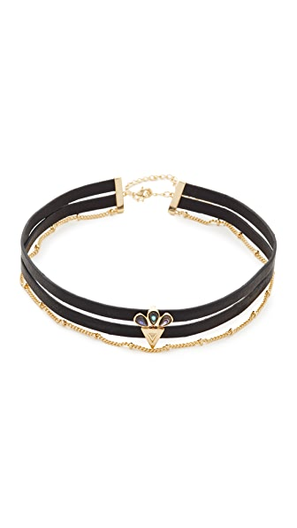 Jules Smith Owen Leather Choker Necklace