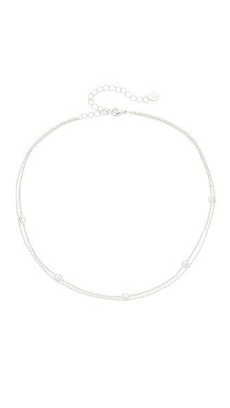 Jules Smith Crimson Chain Choker Necklace - Silver/Clear