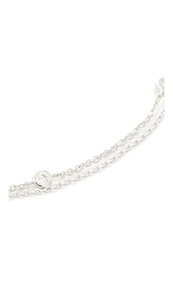 Jules Smith Crimson Chain Choker Necklace