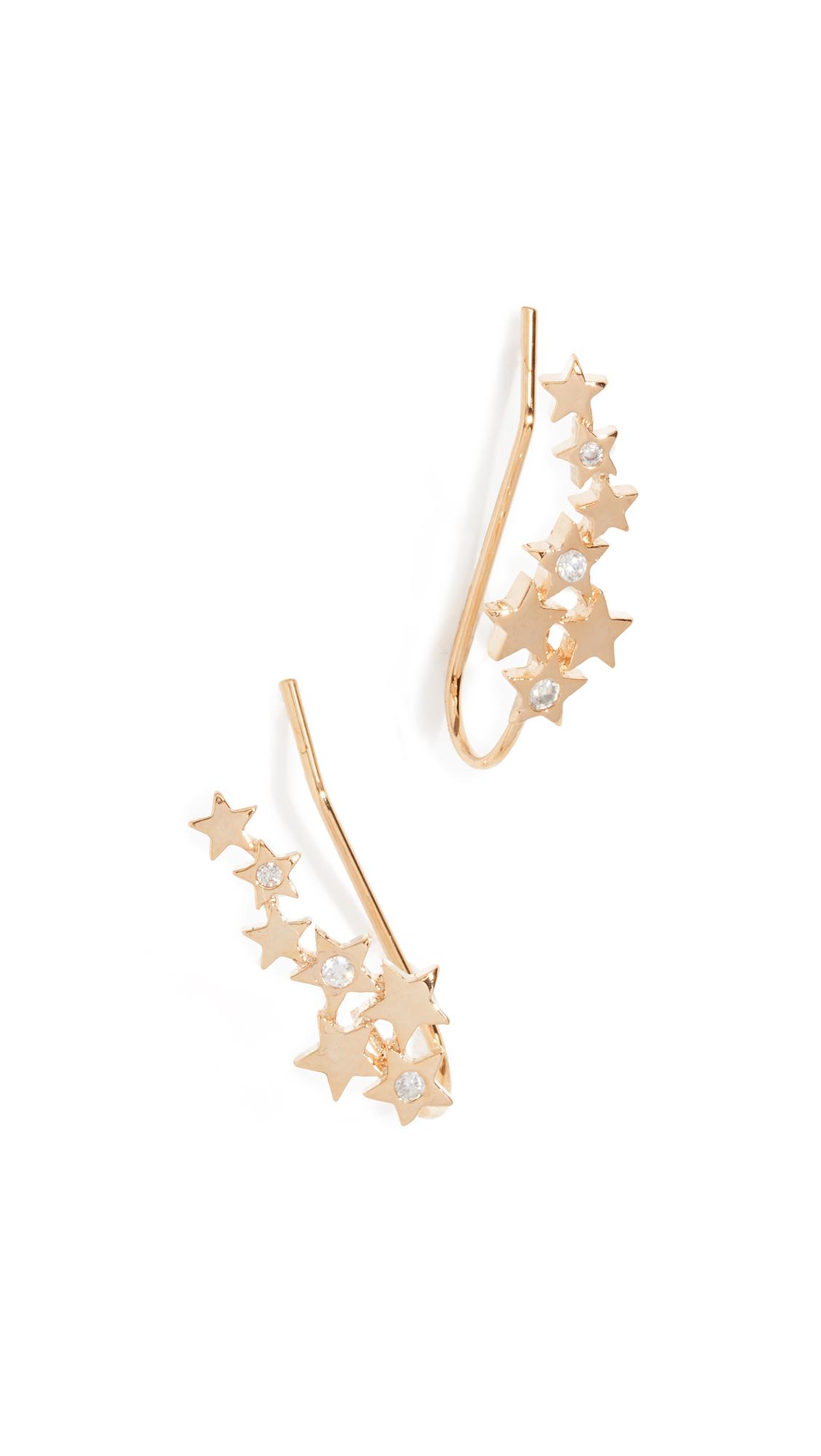 JULES SMITH STAR LIGHT CRAWLER EARRINGS