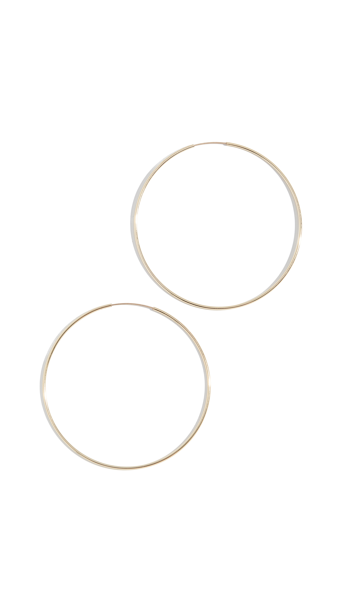 JULES SMITH Lola Hoops in Yellow Gold