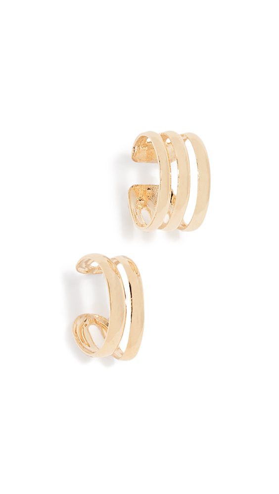 JULES SMITH Essie Ear Cuff Set in Yellow Gold