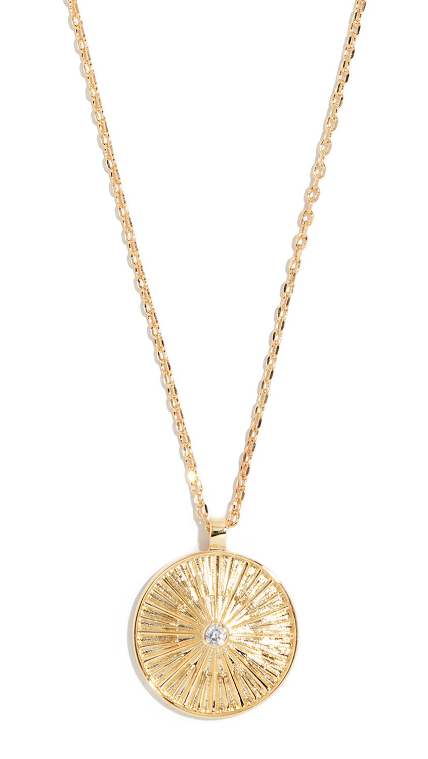 JULES SMITH Sol Coin Pendant Necklace in Gold