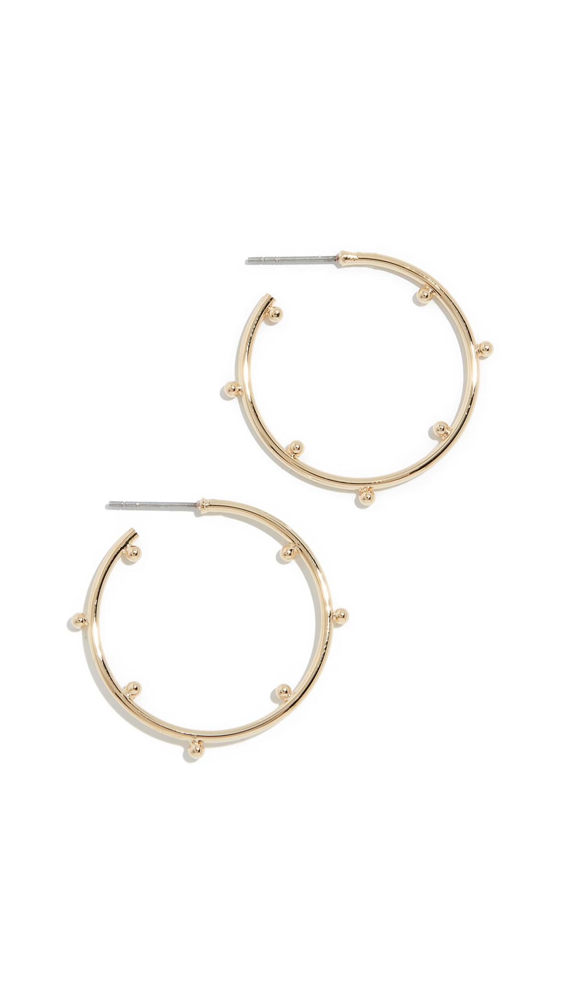 JULES SMITH Ava Hoop Earrings in Gold