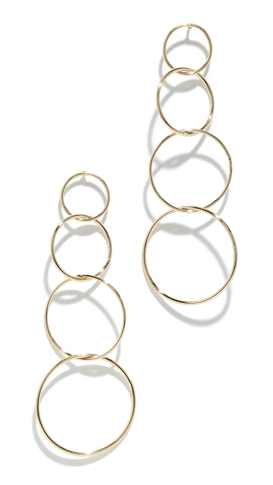 JULES SMITH Quatro Hoop Earrings in Gold