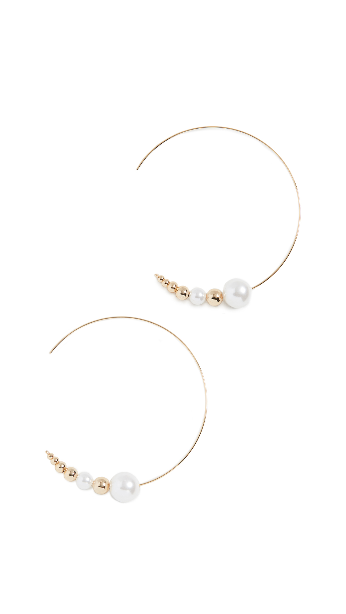 Jules Smith Pearl Threader Earrings In Gold/Pearl