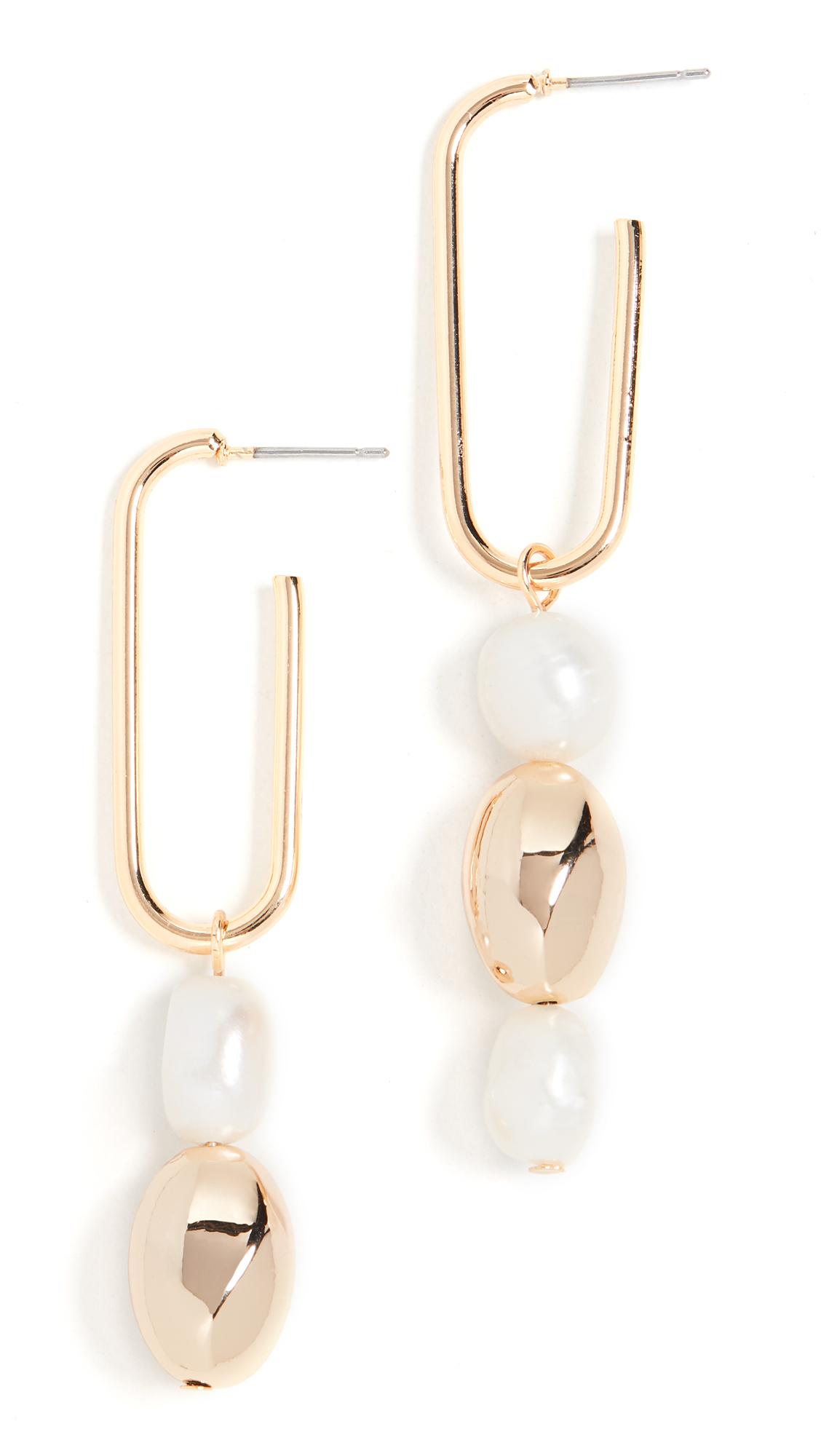 Jules Smith Pearl Drop Earrings In Gold/Pearl