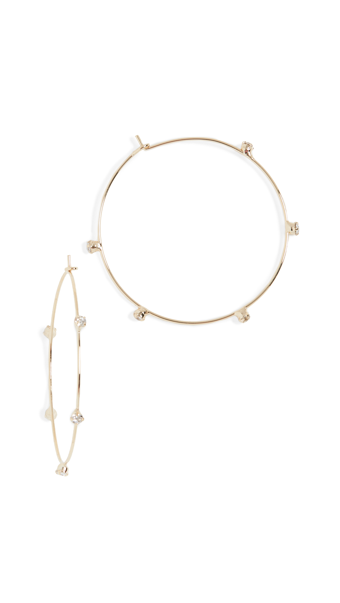 Jules Smith Crystal Hoop Earrings In Yellow Gold
