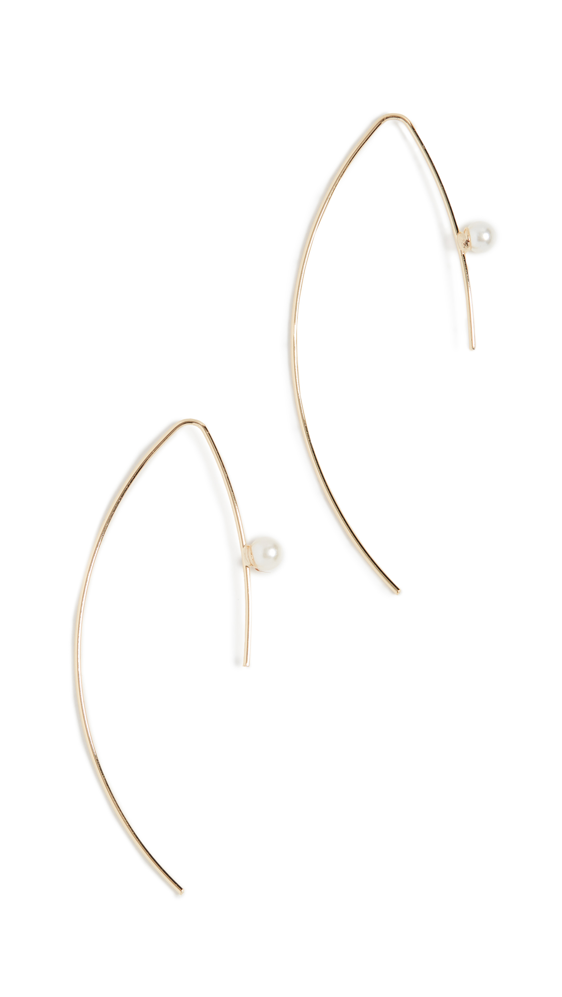 Jules Smith Cultured Pearl Threader Earrings In Yellow Gold