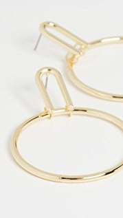 Jules Smith Modern Drop Circle Earrings