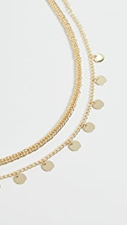 Jules Smith Disc Curb Chain Necklace