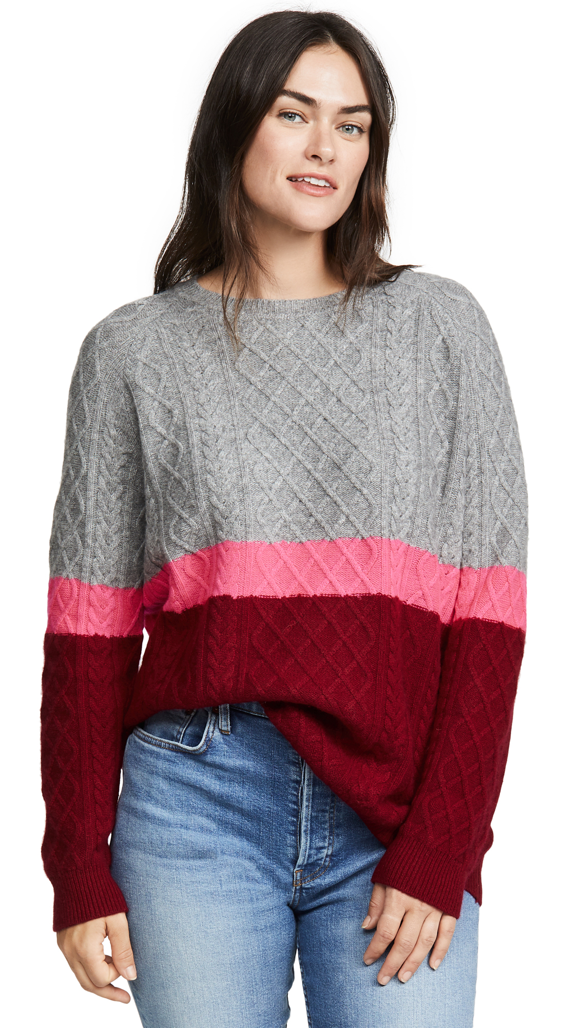 Buy Jumper online - photo of Jumper 1234 3 Color Aran Cashmere Sweater