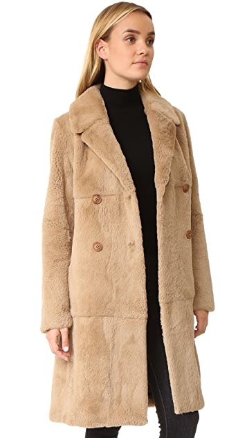 June Fur Trench Coat