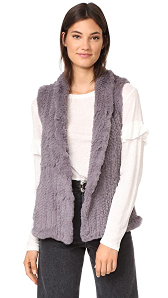 June Classic Shawl Vest In Amethyst