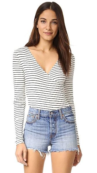 Just Female Nine Bodysuit - White/Black Stripe