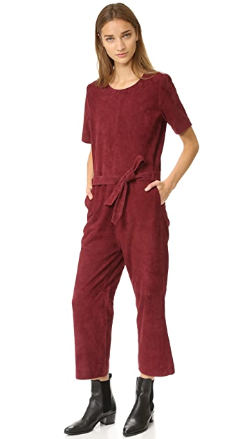 Just Female Rufus Suede Jumpsuit