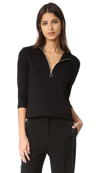 Just Female Rainy Zipper Top - Black