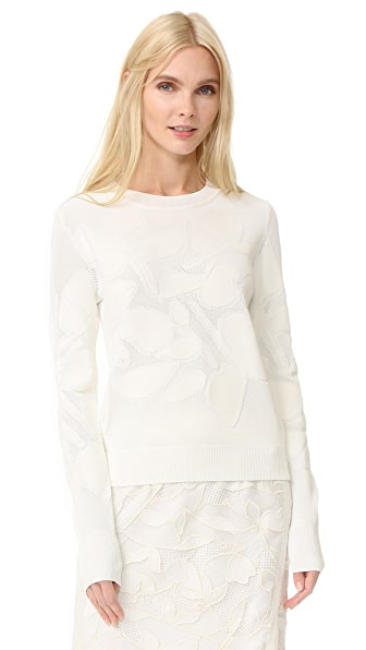 Grey Jason Wu Textured Sweater