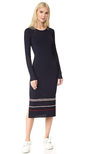 Grey Jason Wu Striped Knit Dress